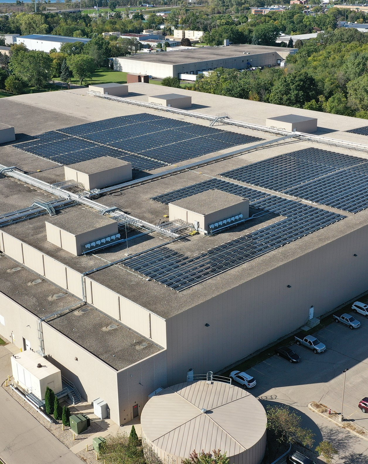 Certco headquarters rooftop solar system