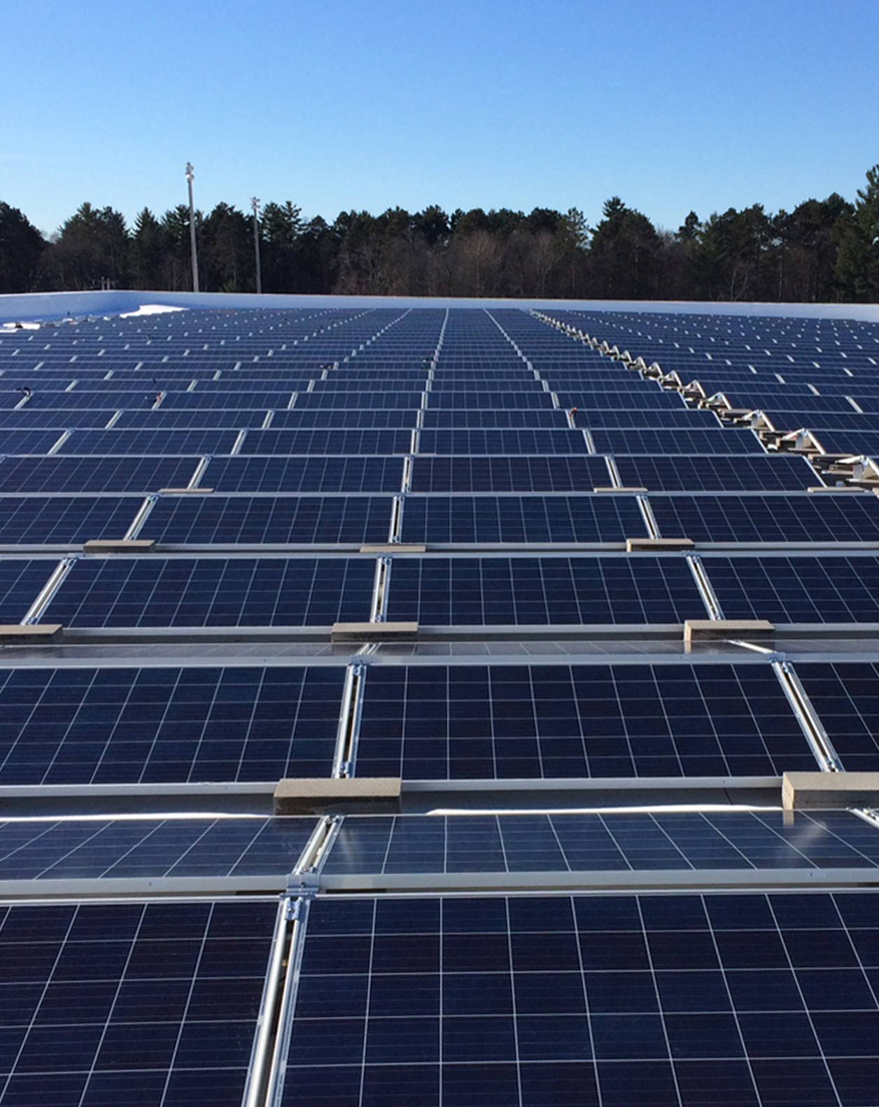 Lakeland Union High School roof-mounted solar PV system