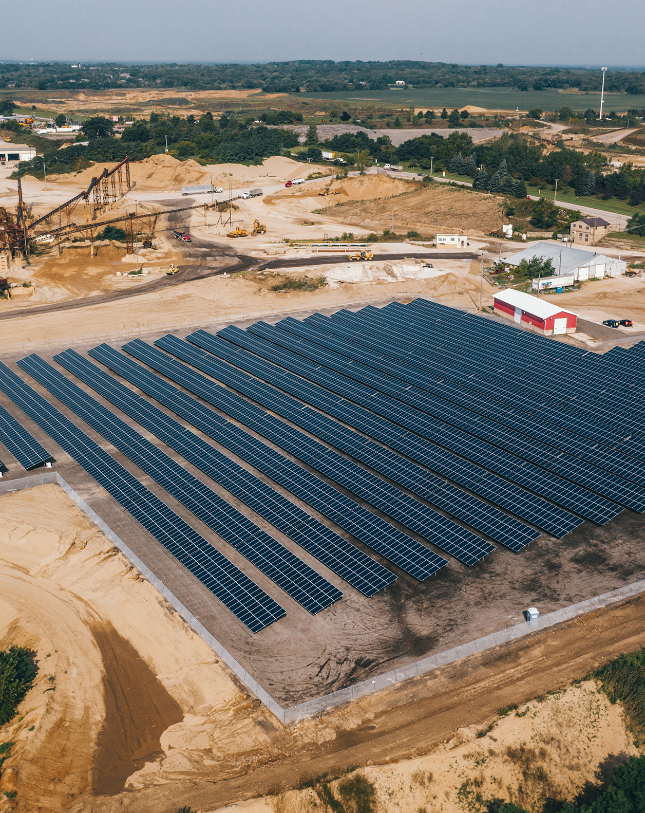 Solar project for Thelen's aggregate mining facility