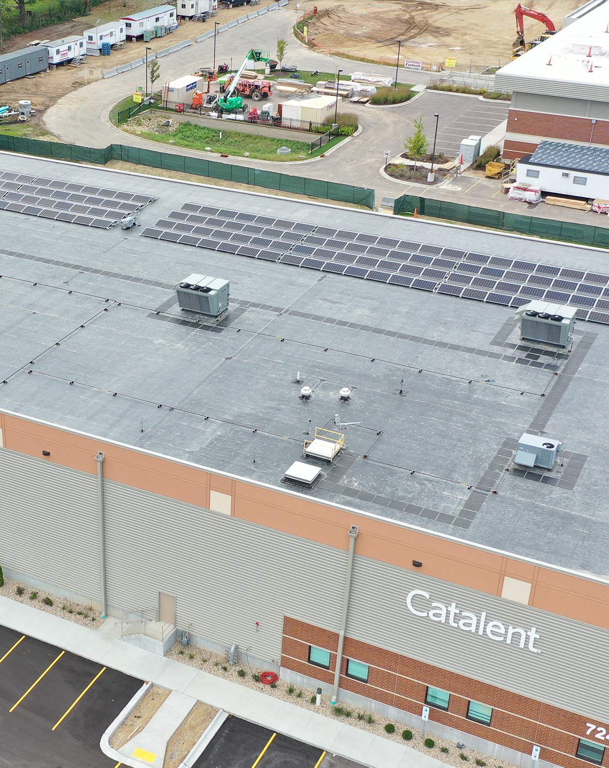 Catalent had SunPeak build a roof-mounted solar PV system